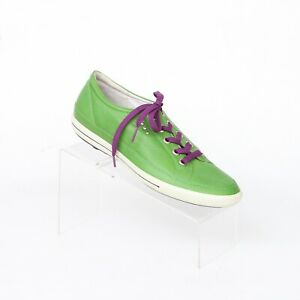 Ecco Green Leather Lace Up Spikeless Golf Cleat Shoes Womens 40 US 9-9.5 Casual