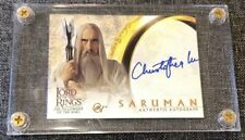 LOTR Fellowship Of The Ring FOTR Christopher Lee Saruman Autograph Movie Card