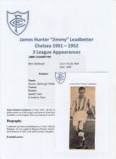 Jimmy Leadbetter Chelsea 1951-1952 Raro Original Firmada a Mano Corte del periódico