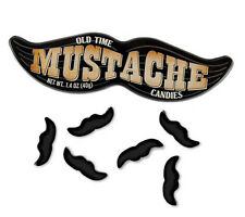 MUSTACHE CANDY Novelty OLD Fashioned - IN Collectible Tin - Tutti FRUTTI 12 Pack