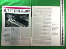 Korg 01/W FD Workstation feature / article from 1991 keyboard synth