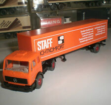 WIKING 24 547 SEMI-TRAILER CAMION MERCEDES BENZ 1619 STAFF ECHELLE 1:87 HO OVP