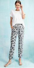 Easel Brand Anthropologie Gray Leopard Jogger Sweatpants M Medium