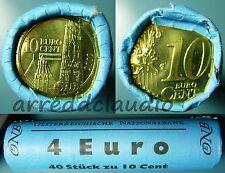 AUSTRIA OSTERREICH ROTOLINO ROLL 40 X 10 EURO CENT FDC 2002