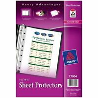Avery Diamond Clr Sheet Protectors for Mini Binders, 8.5 x 5.5, 25-Count