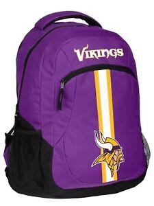 NFL Minnesota Vikings Logo Action Backpack ( School, Work,Travel)