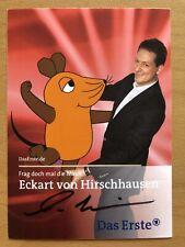 Eckart De Hirschhausen Ak Ard Frag La Souris Carte Autographe Original Signé 1