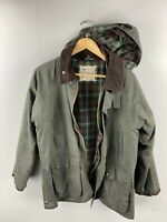 Samuel Windsor England Vintage Men's Hooded Winter Lined Coat - Green