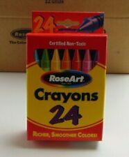 RoseArt Crayons 24 Color Palette Kids Arts Crafts School Case of 12 packs