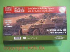 NEU 1:72 Plastic Soldier #V035 WKII 3xdeutsche SdKfz 250 Neu Halbkette Panzer