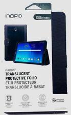 Incipio Samsung Galaxy Tab E Clarion Case Translucent Protective Folio Black