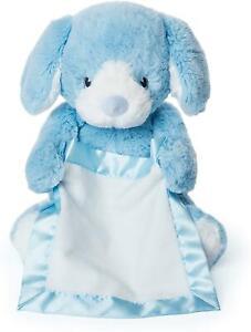 Peek A Boo Puppy Blue Baby Gund Soft Toy Gift Interactive Talking