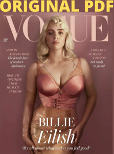 UK Vogue Magazine June 2021:  BILLIE EILISH COVER FEATURE