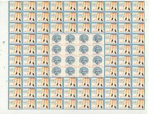 KENNY FOUNDATION POSTER STAMPS, FULL SHEET