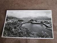 Real photographic Gwynedd postcard - pretty scene The Harbour Portmadoc