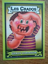 Image * Les CRADOS 3 N° G8 * 2004 album card Sticker FRANCE Garbage Pail Kid
