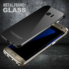 Luxury Metal Bumper Gorilla Glass Back Cover Case for Samsung Galaxy S7 edge USA
