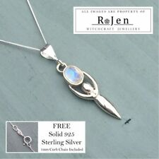 "Less than 13"" Natural Moonstone Fine Necklaces & Pendants"