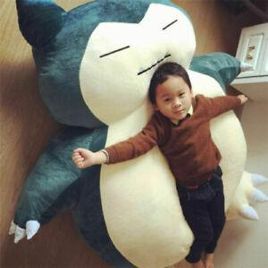 "POKM Snorlax 17/"" Plush Doll Soft Cushion Pillow X/'mas Cuddlee Pet Gift"