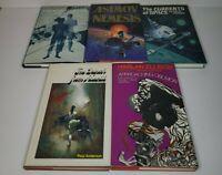 Lot of (5) Science Fiction Fantasy Books, Asimov Ellison Frazetta BCE Hardcover