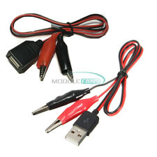 Small Alligator Test Clip Clamp To Usb Femalemale Connector Adapter Cable Cord