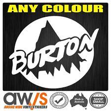 Burton Sticker Decal Large For Car window Snowboard Snow Ski Skate Brand BOARD