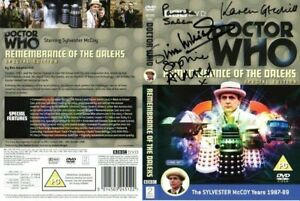 Doctor Who: REMEMBRANCE OF THE DALEKS DVD Cover Signed by Cast & Crew