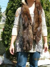 Russian Sable COLLAR STOLE WRAP SHAWL Cape 4 Pelts Taxidermy