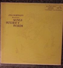 Songs Without Words LP 1957 Ania Dorfmann MENDELSSOHN RCA Red Seal