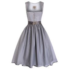 Midi Dirndl Elly in Silber von Apple of my Eye
