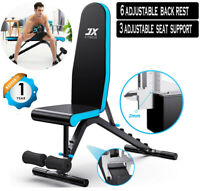 BRAND NEW MODEL 90DEGREES Adjustable Incline Flat Decline Weight Bench SitUp Gym