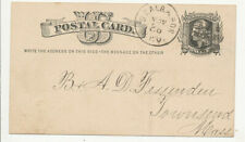 1878 St Albans & Boston RPO Cancel on UX5 Postal Card LUmber Dlr Reeds Ferry NH