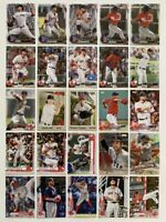 2016-2020 Boston Red Sox 25-card Team Lot (Bowman/Topps, no duplicates)