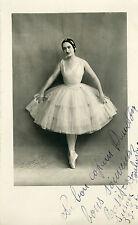 """""""Rosita CERES"""" Photo originale dédicacée à Mr Mario DRAVETON (C. AICARD 1934)"""