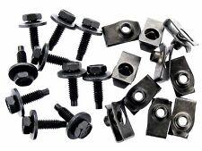"Jeep Body Bolts & U-nut Clips- 1/4-20 x 15/16""- 7/16"" Hex- 20 pcs (10ea)- #157"