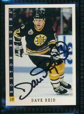 1993-94 Score American #371 Dave Reid signed autograph Bruins Hockey Card