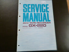 Original Service Manual Schaltplan Akai GX-220