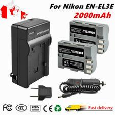 2× EN-EL3E Rechargeable Battery + Charger for Nikon D200 D300 D100 D700 D80 D90