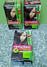 3 Boxes Garnier HerbaShine # 426 Dark Burgandy Colour Creme Hair Dye Color Read!