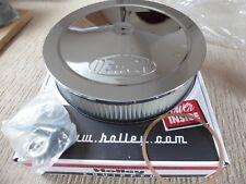 "HOLLEY 14 X 3"" ROUND DEMON SCRIPT AIR CLEANER KIT CHROME"