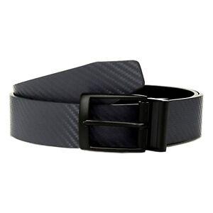 Nike Mens Carbon Fiber-Texture Reversible Belt, Dark Grey/Black, 32