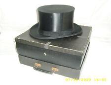 Zylinder Hut Chapeau Claque Klappzylinder Falthut Größe 56 Schachtel schwarz