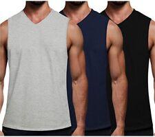 COOFANDY Men's 3 Pack Workout Tank Tops Gym Sleeveless Shirts V Neck, X-Large