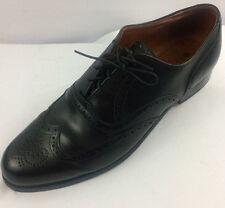 Vintage! Mens WALK-OVER (USA) Black Leather WINGTIPS / DRESS OXFORDS sz 9.5 D/B