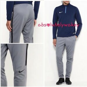 NIKE Dry Strike Track Pants Trousers  Football Cool Grey/Black