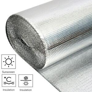 Silver Foil Insulation Bubble Warm Double Aluminum Roll Loft Shed 10M 20 25M 30M