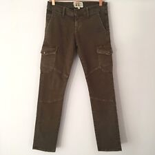 Current Elliott Slouch Seamed Cargo Stretch Skinny Jeans Combat Green 24 UK 6