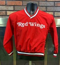 Vintage Starter Detroit Red Wings NHL Hockey Red Pullover Jacket Youth Small