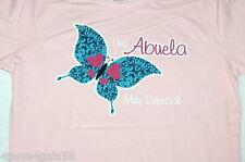 Womens S/S Tee Shirt PINK MOTHER'S DAY Spanish UNA ABUELA Muy Especial M 8-10