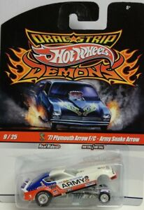 DRAG STRIP DEMONS DON PRUDHOMME ARMY SNAKE '77 PLYMOUTH ARROW 1/64 HOT WHEELS #9